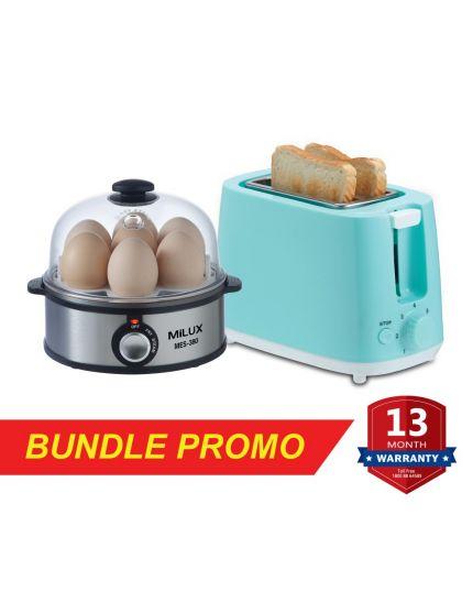 Egg Steamer (MES-380) + Bread Toaster (MBT-650)