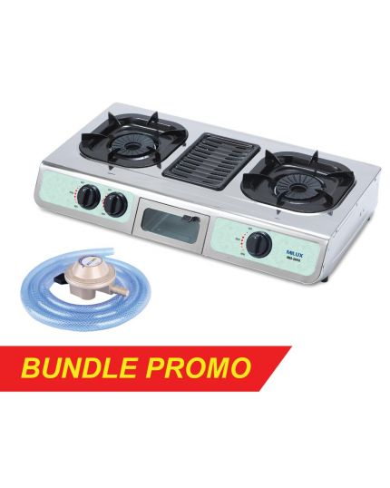 Gas Cooker with Grill (MSS-2501G) + Gas Regulator (M-188CS)
