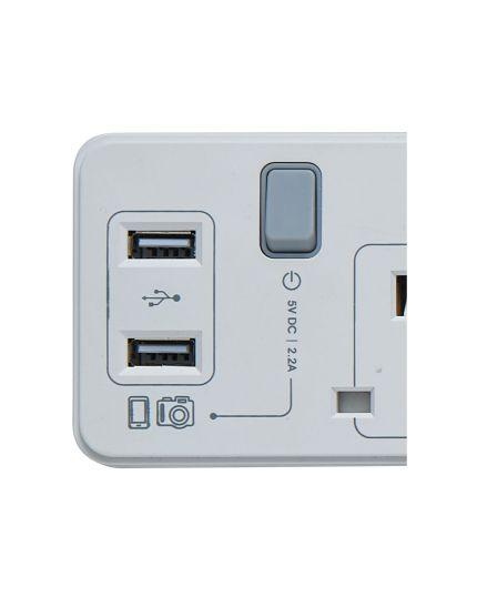 Trailing Socket with USB (MEC-9320U)