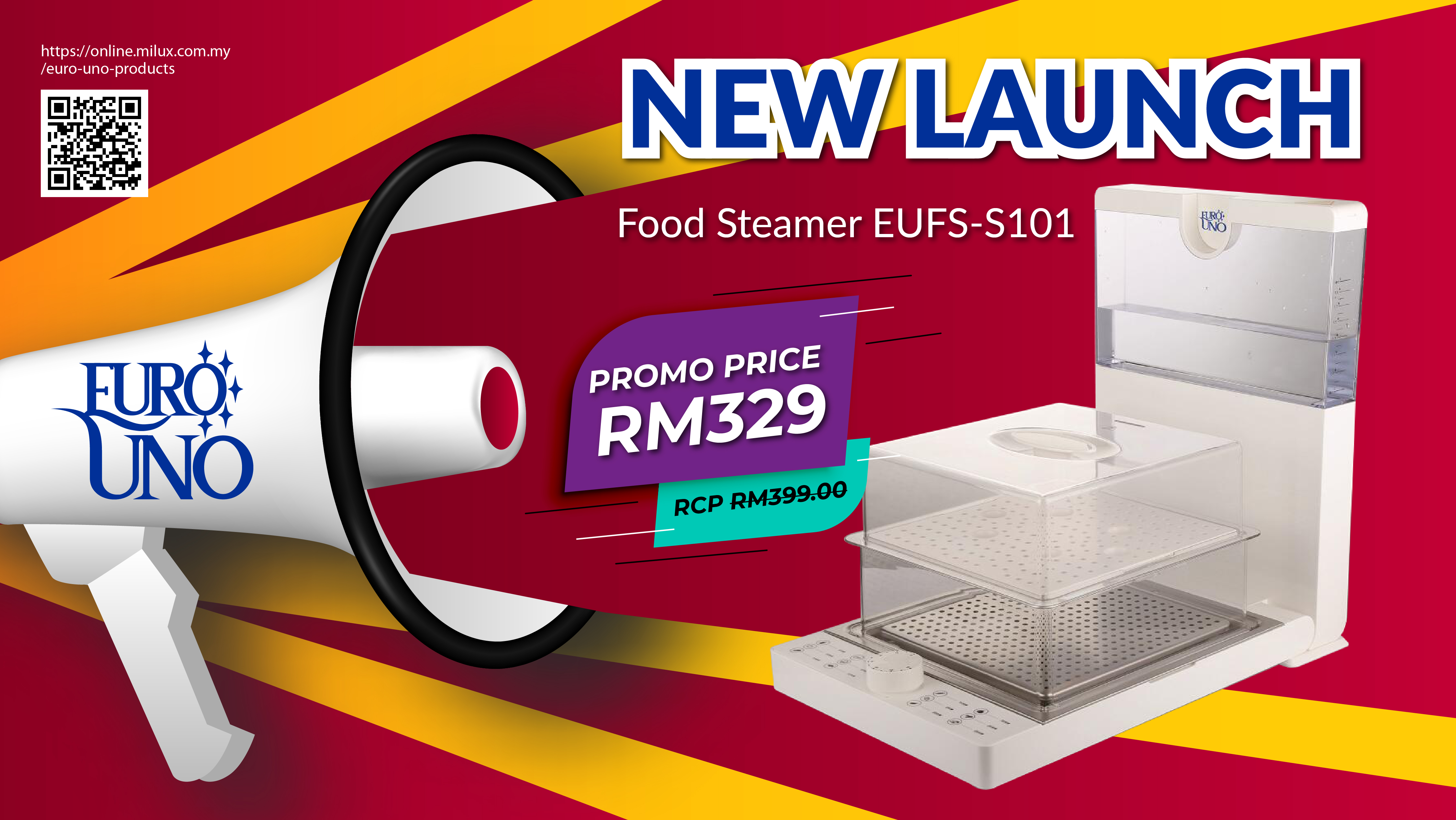 Euro UNo Food steamer Launch